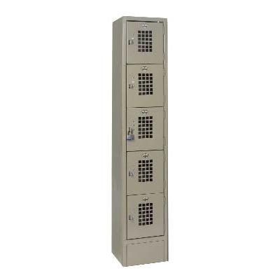 """Win-Holt WL-55 1-Column Locker w/ (5) 10"""" x 12"""" x 12"""" Compartments, Beige"""
