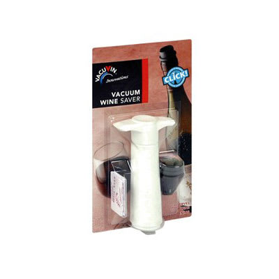 Spill-Stop 13-740 VacuVin Wine Saver Set, White