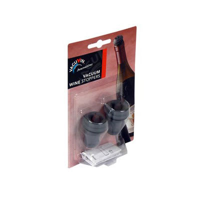 Spill-Stop 13-742 VacuVin Wine Saver Stopper, Rubber