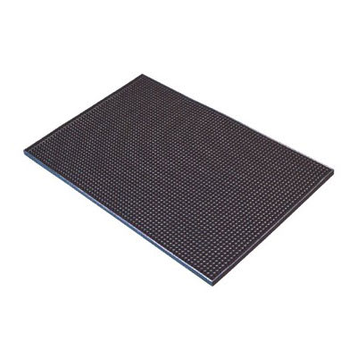 """Spill-Stop 161-02 Flexible Bar Mat - 12"""" x 18"""", Black"""