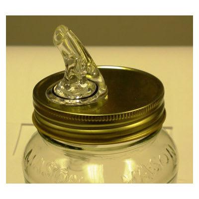 Spill-Stop 381-00 Mason Jar Pourer, Clear, Plastic