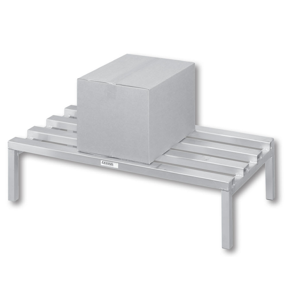 "Channel 329CA 48"" Stationary Dunnage Rack w/ 2500 lb Capacity, Aluminum"