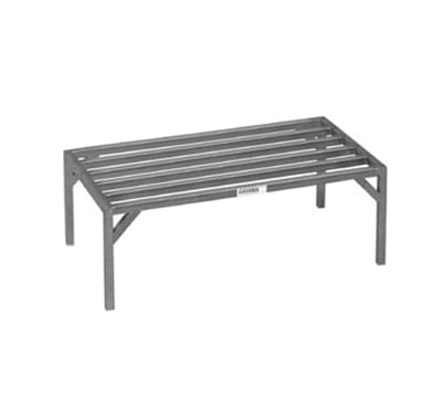 Channel 330ES 12-in Tubular Dunnage Rack w/ 4000-lb Capacity, 60x20-in, Aluminum