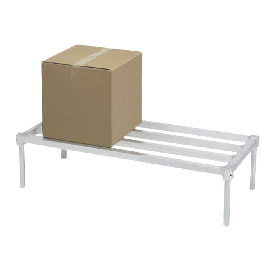"Channel ADE2024KD 24"" Stationary Dunnage Rack w/ 2200-lb Capacity, Aluminum"