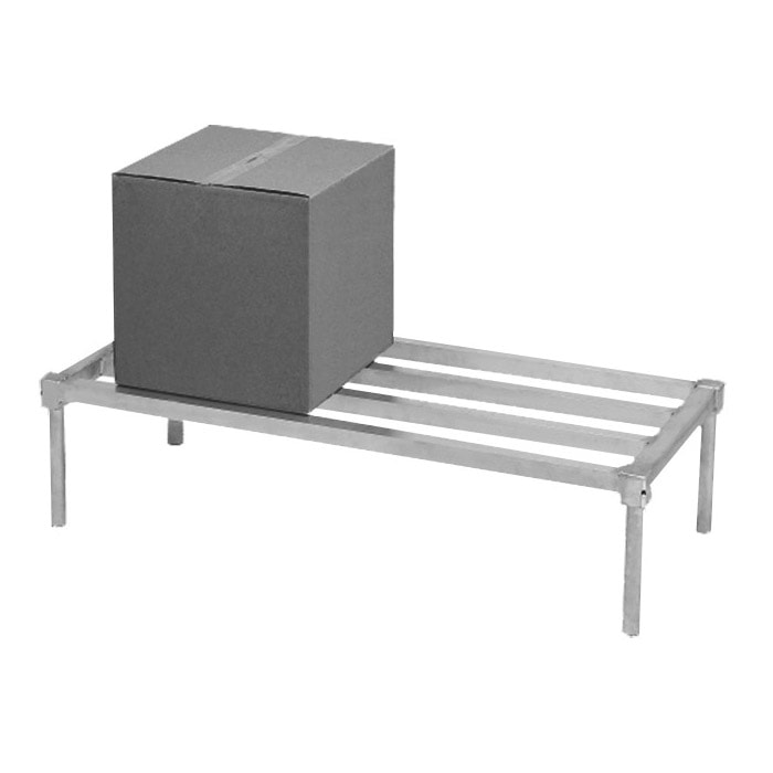 "Channel ADE2048KD 48"" Stationary Dunnage Rack w/ 2200-lb Capacity, Aluminum"