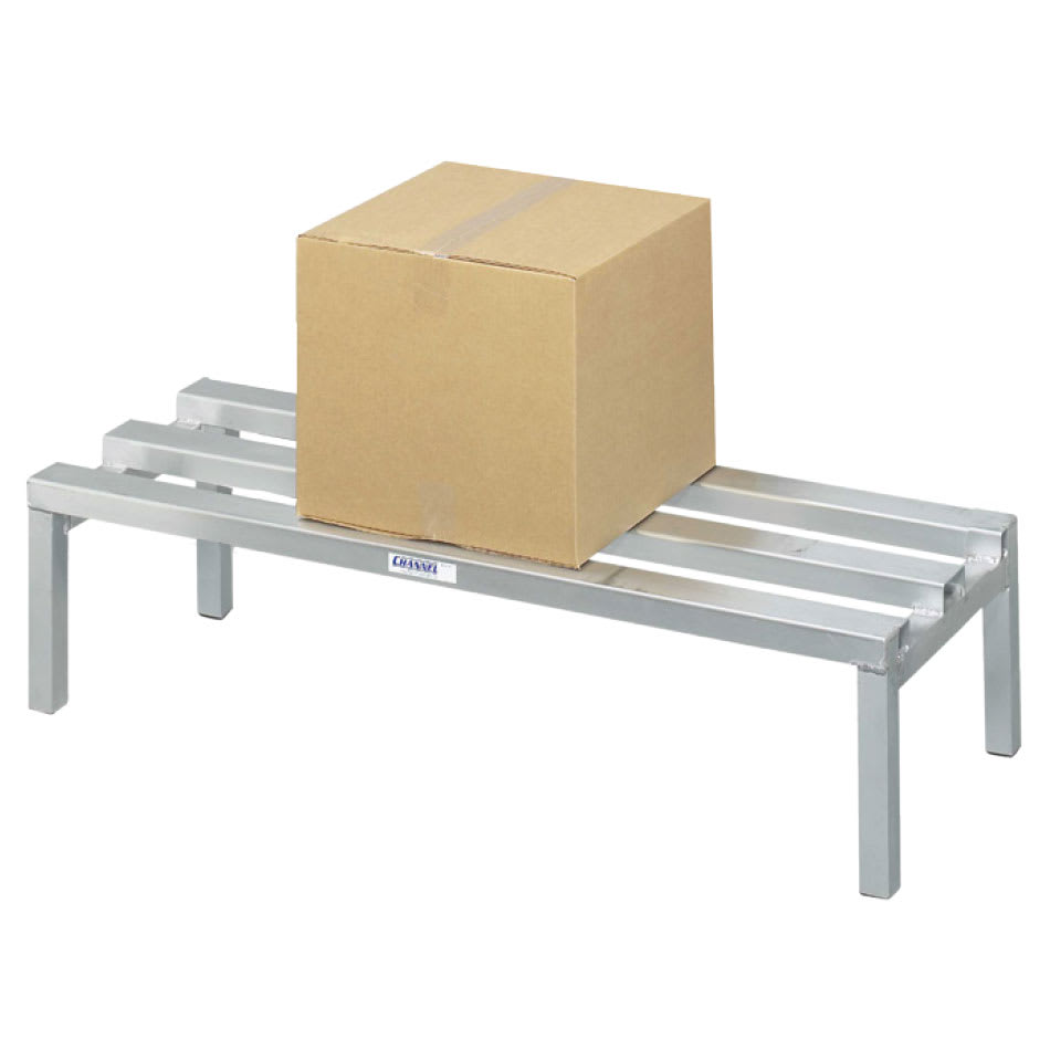 """Channel ADR2048 48"""" Stationary Dunnage Rack w/ 2200-lb Capacity, Aluminum"""