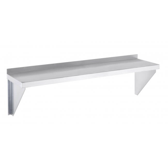 "Channel AWS1224 24"" Solid Wall Mounted Shelving, Aluminum"
