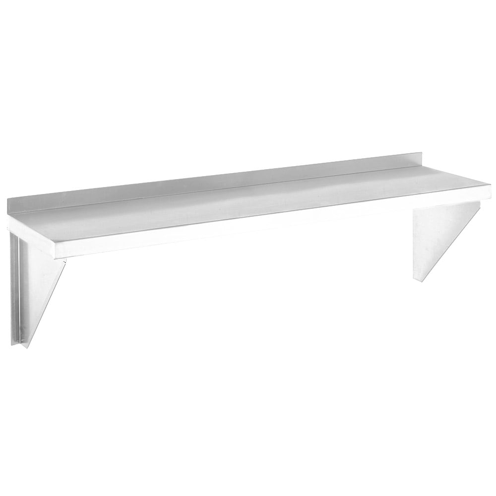 """Channel AWS1248 Solid Wall Mounted Shelf, 48""""W x 12""""D, Stainless"""