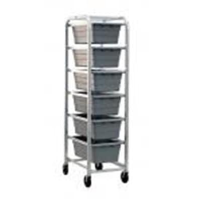 "Channel AXD506L 70.5"" Lug Rack w/ 6-Lug Capacity & Swivel Casters, Aluminum"