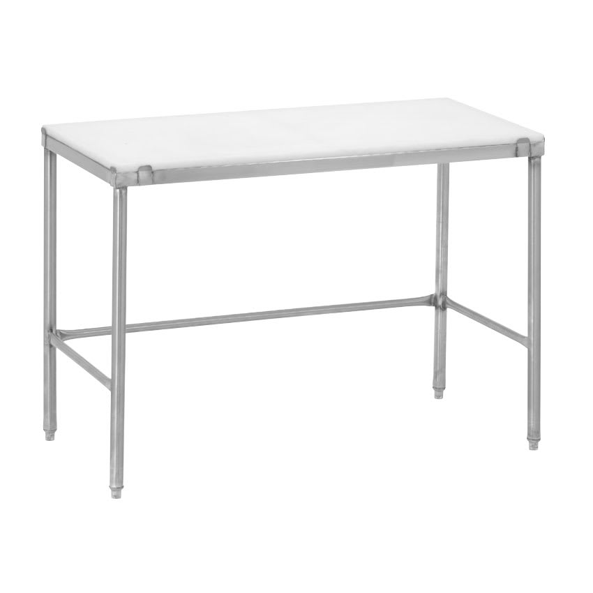 "Channel CT248 48"" Poly Top Work Table w/  3/4"" Top, Stainless Base, 24""D"
