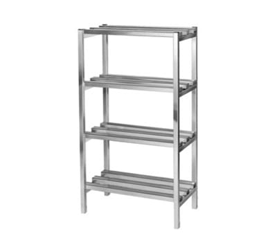 Channel DR334-4 Dunnage Shelving w/ 10.5-in Spacing, 60x24-in, Aluminum