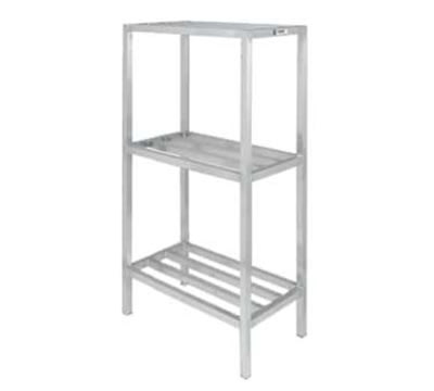 "Channel ED331-3 Tubular Dunnage Shelving w/ 3-Shelf & 26"" Spacing, 72x20"", Aluminum"