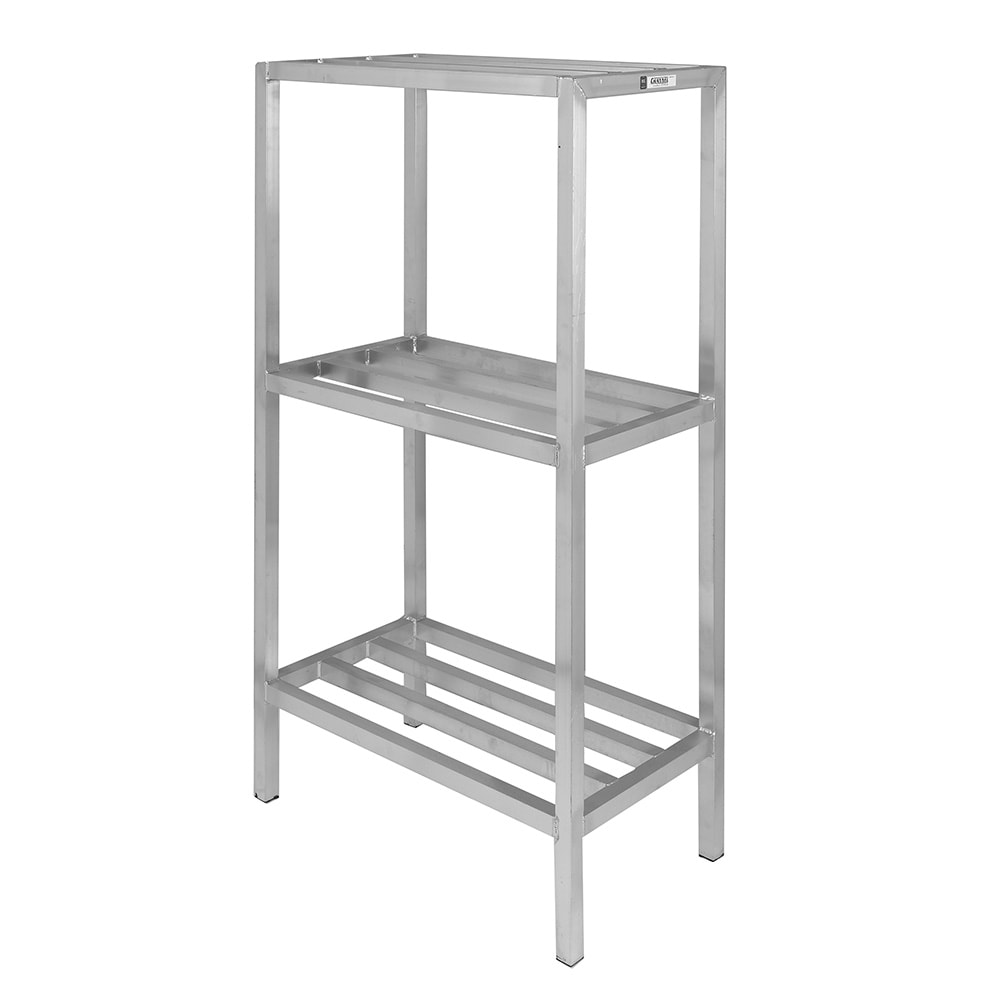 """Channel ED2454-3 54"""" Stationary Dunnage Rack w/ 2200-lb Capacity, Aluminum"""