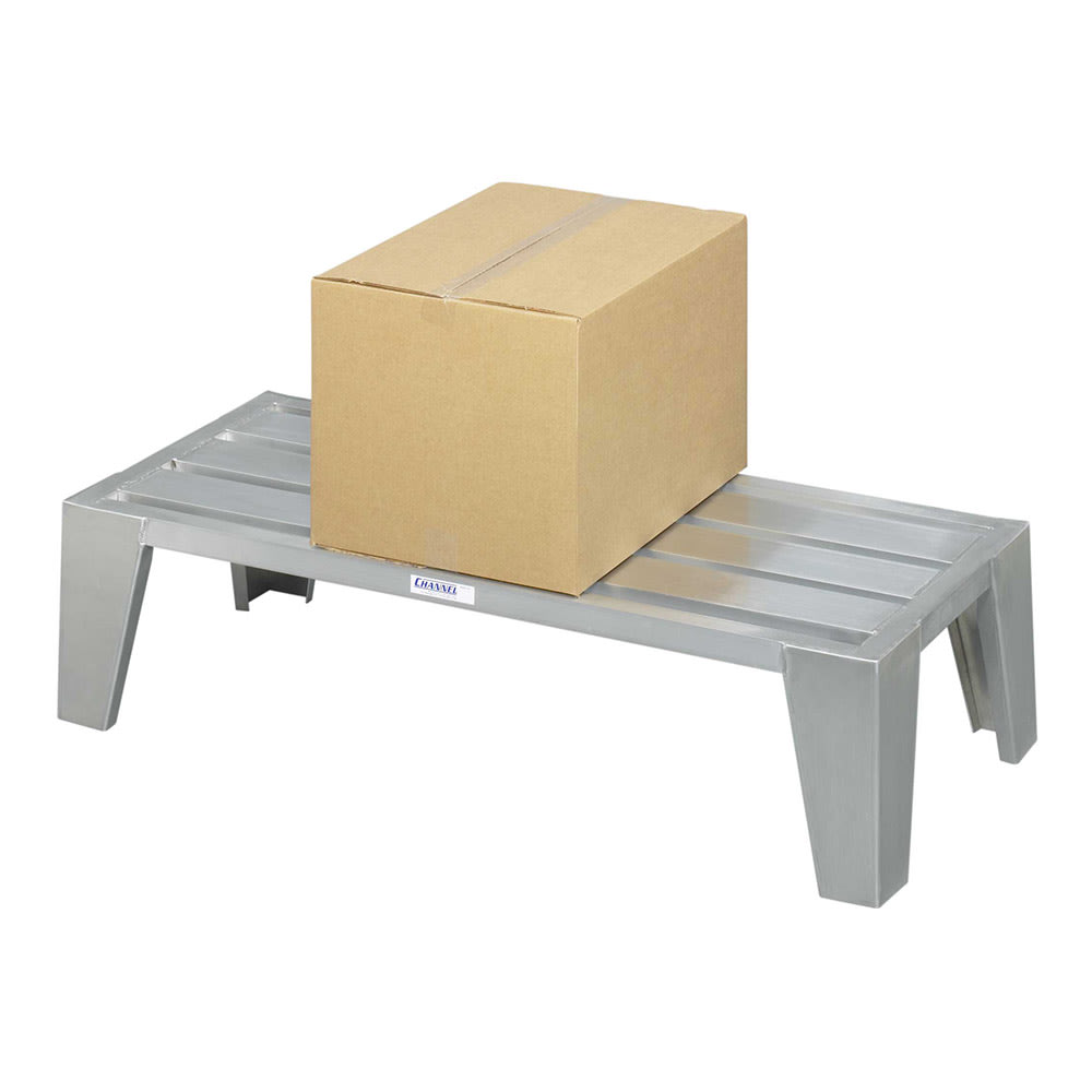 """Channel EXD2060 60"""" Stationary Dunnage Rack w/ 3000-lb Capacity, Aluminum"""