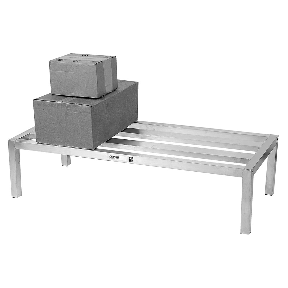 "Channel HD2048 48"" Stationary Dunnage Rack w/ 2500-lb Capacity, Aluminum"