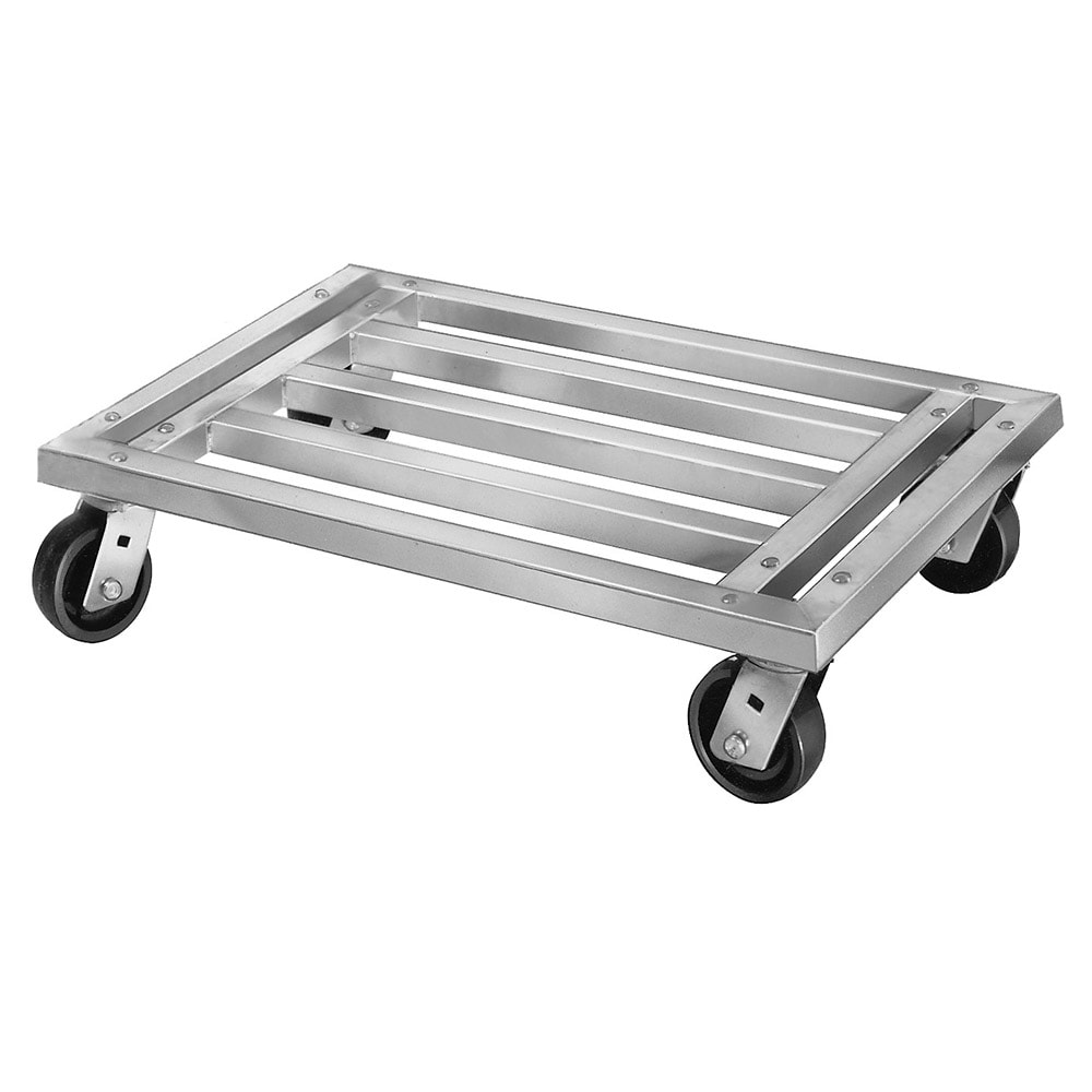 """Channel MD2048CA 20"""" Mobile Dunnage Rack w/ 1200-lb Capacity, Aluminum"""