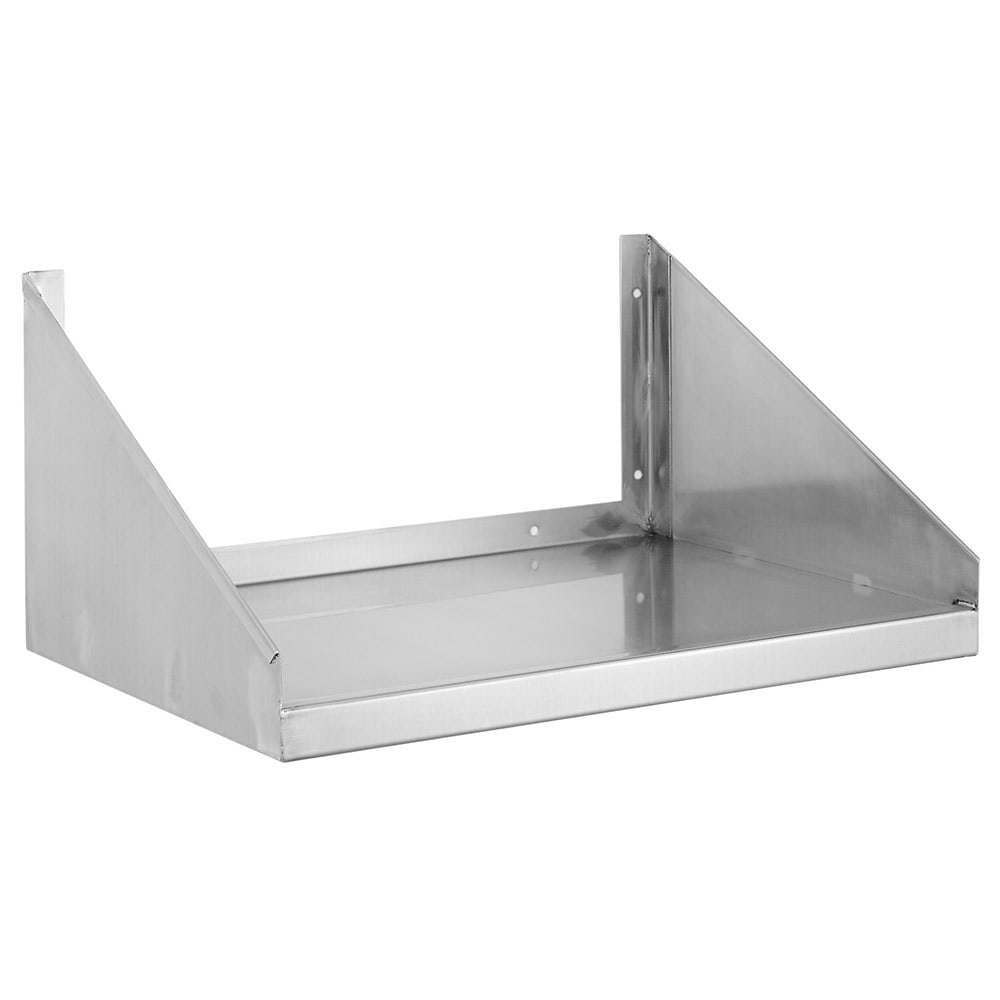 "Channel MWS1824 24"" Solid Wall Mounted Microwave Shelf, Stainless Steel"