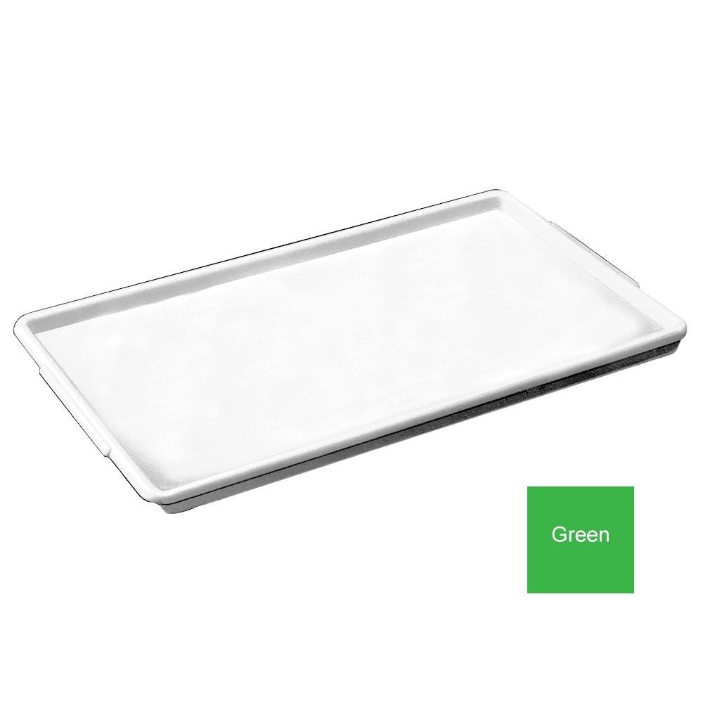 """Channel P1826-G Plastic Platter, 18x26"""", Styrene Plastic, Green"""