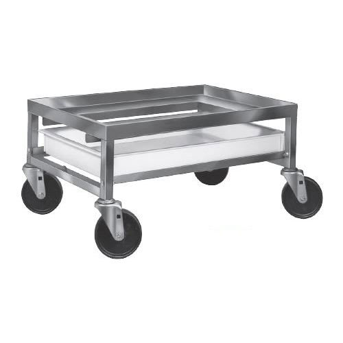 "Channel SPCD-A Poultry Crate Dolly w/ Drip Pan - 23"" x 28"" x 13"", Aluminum"