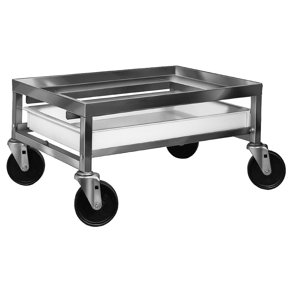 "Channel SPCD-S Poultry Crate Dolly w/ Drip Pan - 20"" x 27"" x 12.5"", Stainless"
