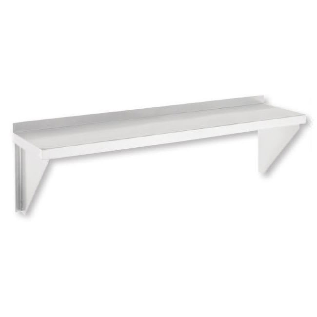 "Channel SWS1248 Solid Wall Mounted Shelf, 48""W x 12""D, Stainless"