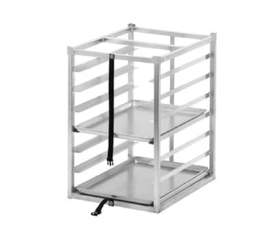 "Channel TR2026-7 Front Loading Transportation Rack w/ 7-Level & 3"" Spacing, Aluminum"