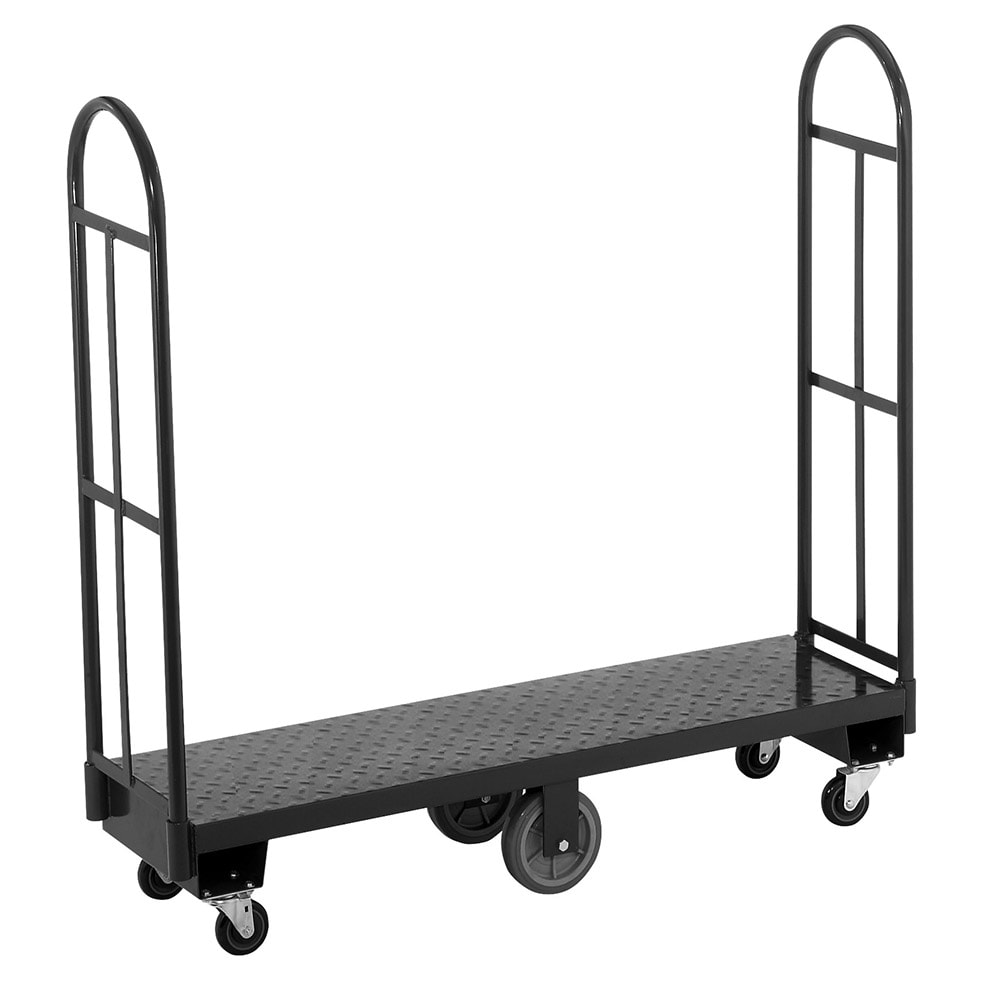 "Channel U1660DS 2500-lb Platform Truck - 16"" x 60"", Steel"