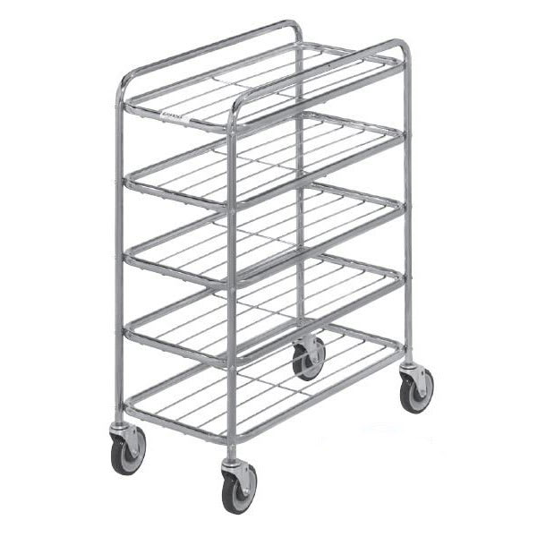 Channel UC0904 4-Level Chrome-Plated Universal Display Cart, Raised Ledges