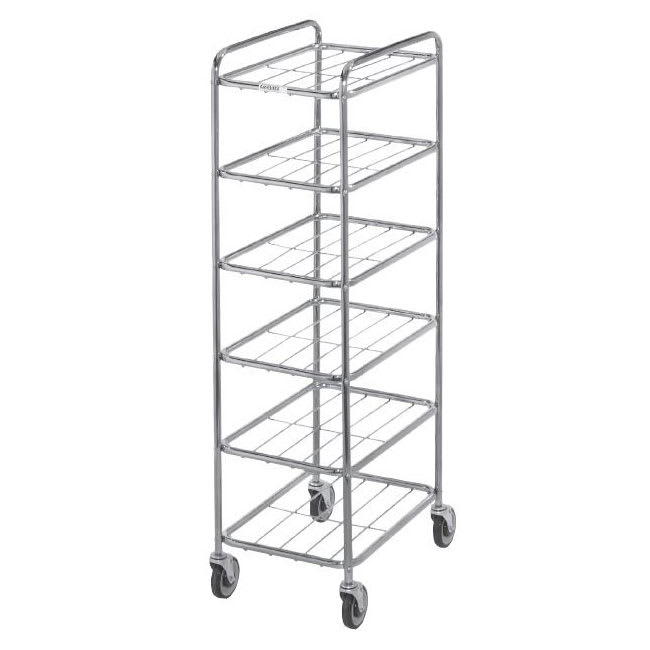 Channel UC0906 6-Level Chrome-Plated Universal Display Cart, Raised Ledges