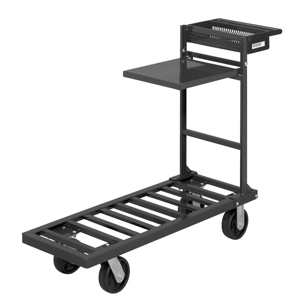 "Channel UC1851 Platform Truck w/ Retractable Shelf & Tool Box - 35"" x 18"" x 50"", Steel"