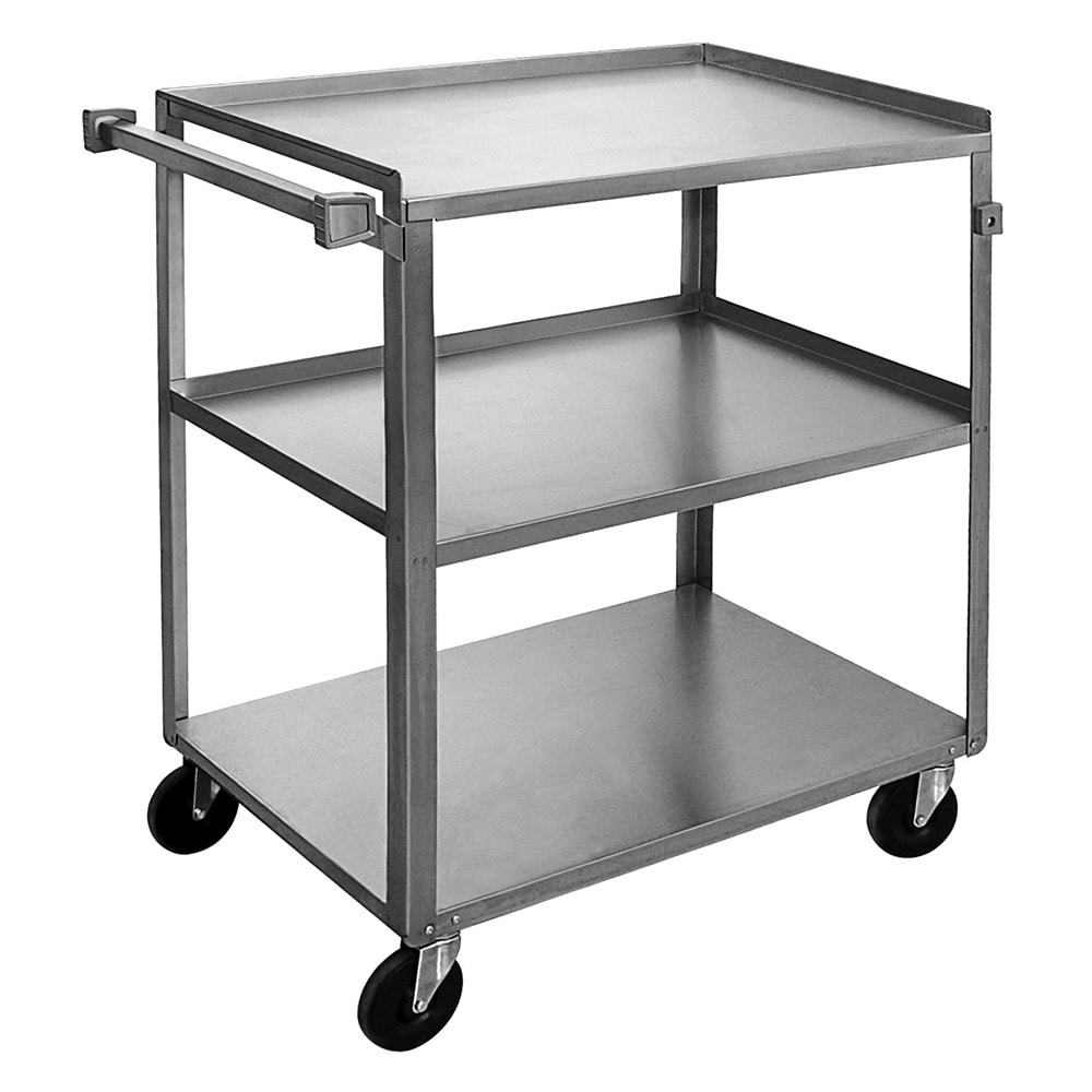 "Channel US2135-3 39"" Metal Bus Cart w/ (3) Levels, Stainless"
