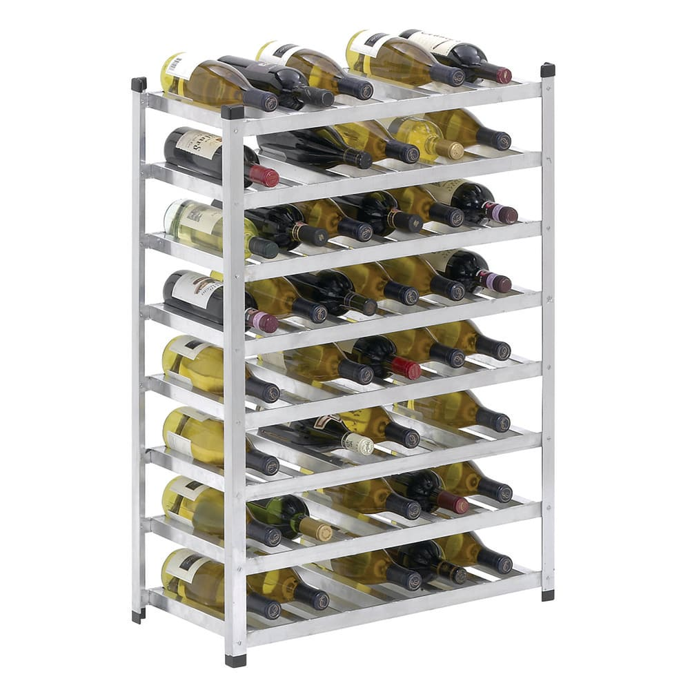 "Channel WINKD861 34.5""H Commercial Wine Rack w/ (48) Bottle Capacity, Aluminum"