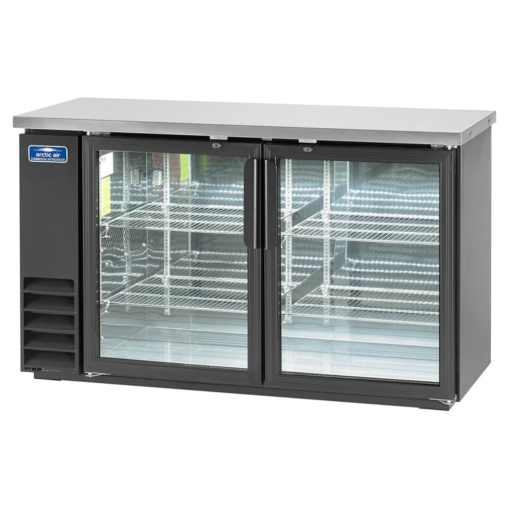 "Arctic Air ABB60G 61"" (2) Section Bar Refrigerator - Swinging Glass Doors, 115v"