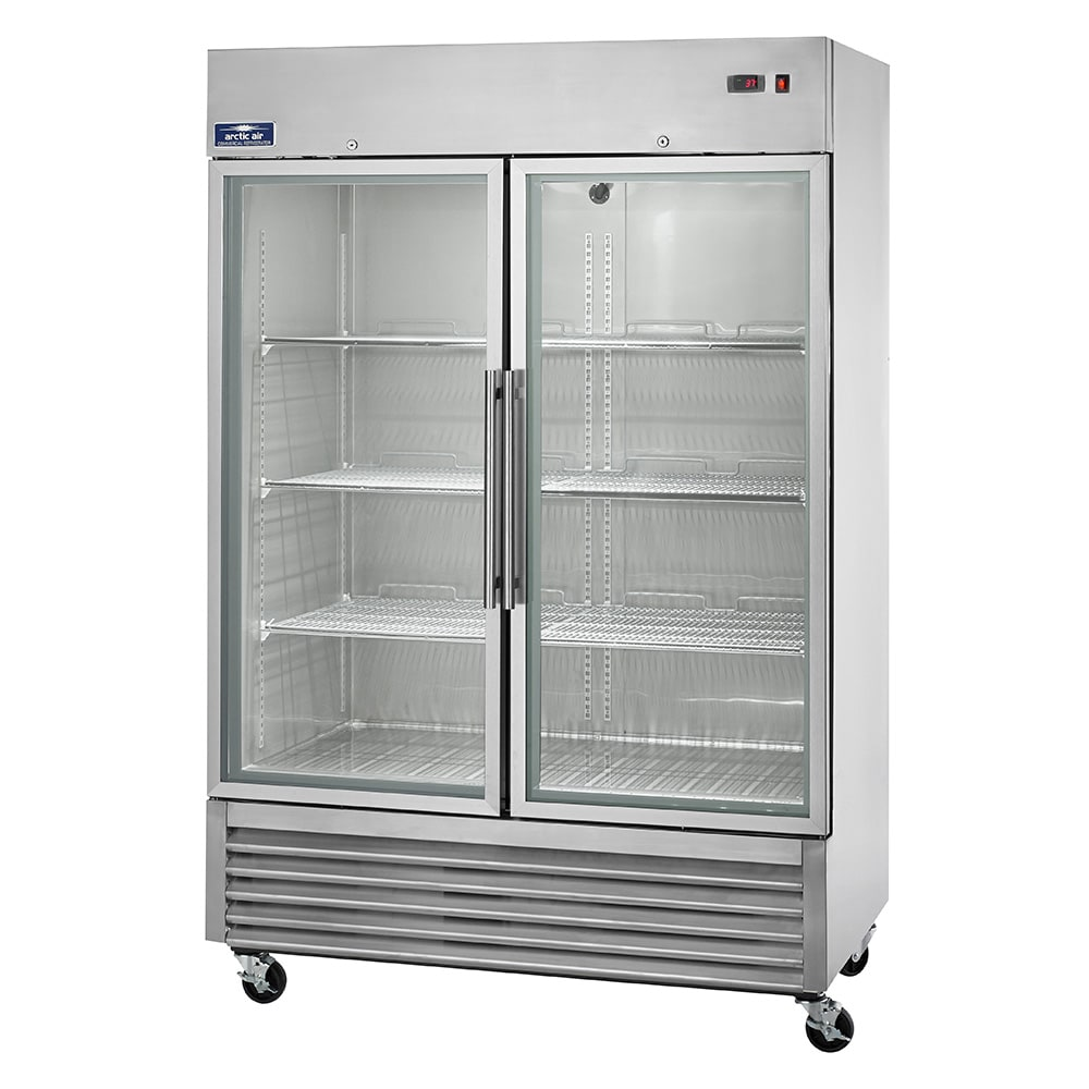 "Arctic Air AGR49 54"" Two Section Reach-In Refrigerator, (2) Glass Doors, 115v"