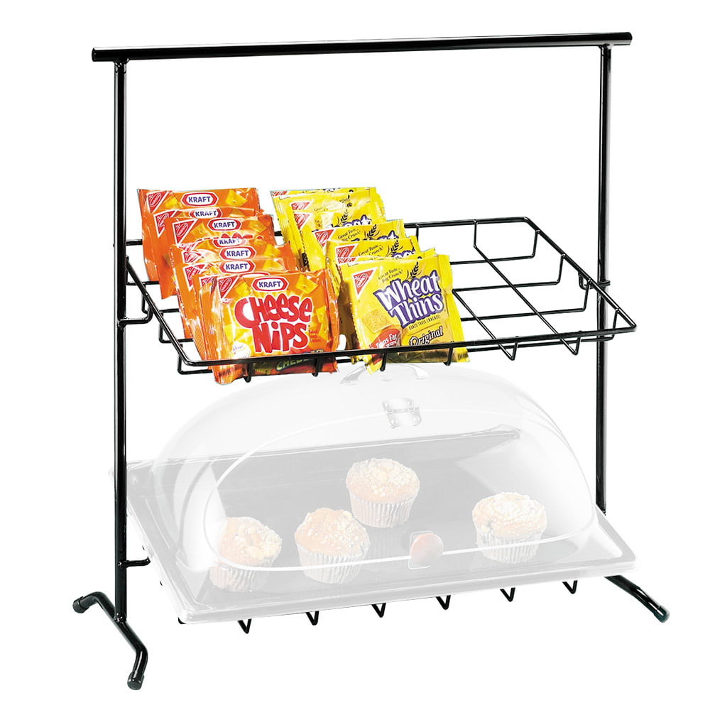 Cal-Mil 1006 Black Iron Frame Display w/ 2 Sloped Tiers, 23x13x26""