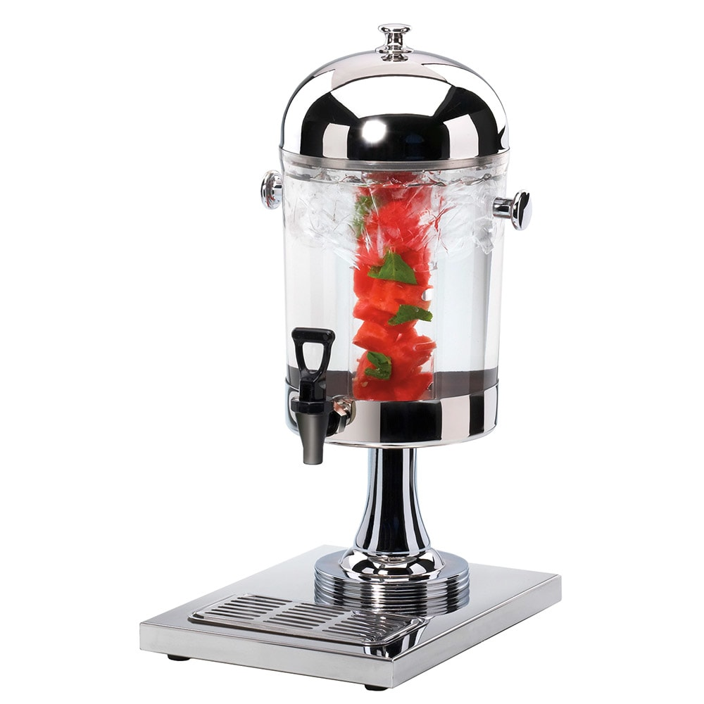 Cal-Mil 1010INF 2 Gallon Round Beverage Dispenser w/ Vented Infusion Chamber