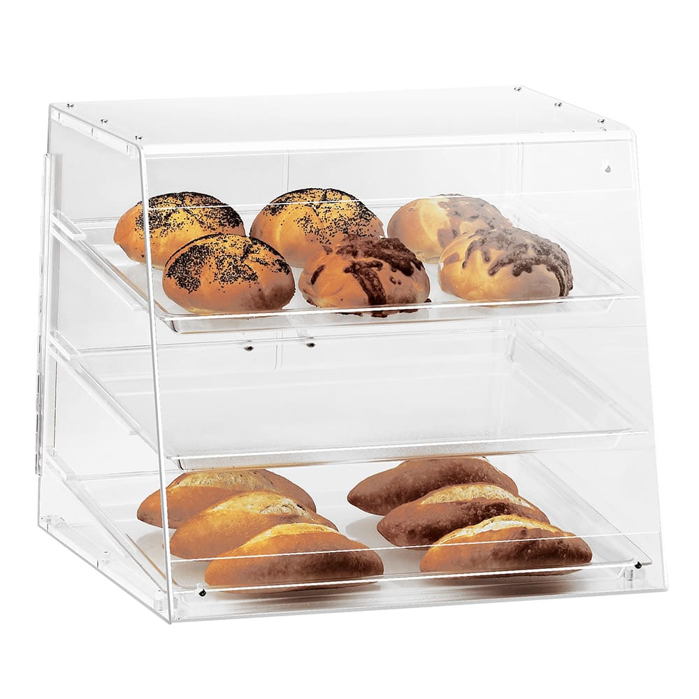 Cal-Mil 1011 Pastry Display Case w/ Slant Front, 19.5 x 17 x 16.5""