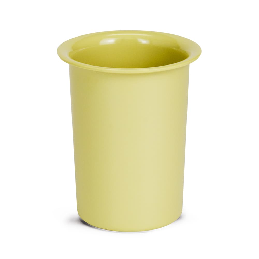 """Cal-Mil 1017-61 4.5"""" Round Flatware Cylinder - 5.5""""H, Melamine, Butter Yellow"""