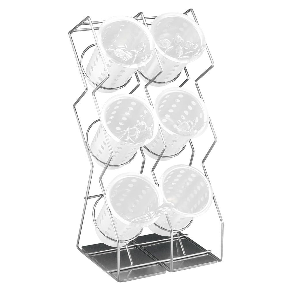 Cal Mil 1025 6 39 6 Hole Space Saver Silverware Display Only Silver
