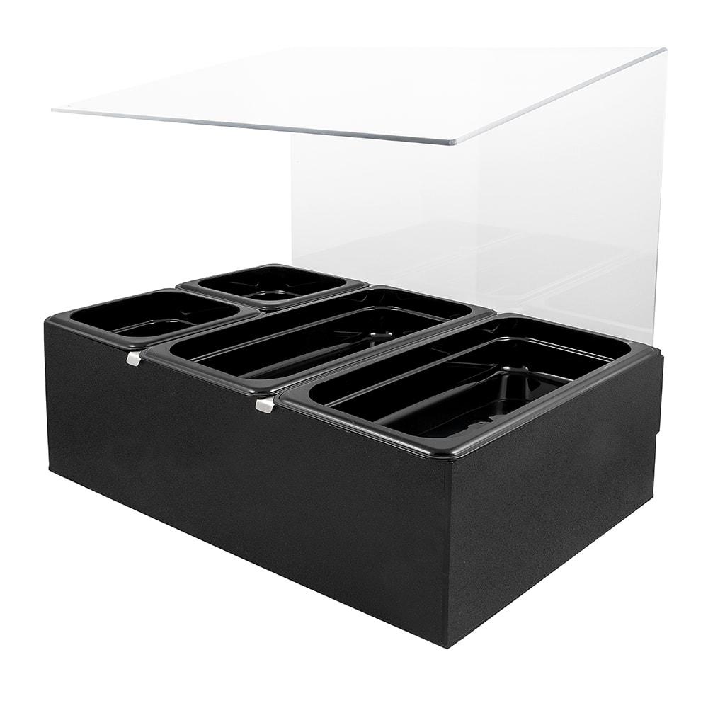 Cal-Mil 1102 Salsa Condiment Bar Set w/ Pans, 20.5 x 12.75 x 19.75, BPA Free