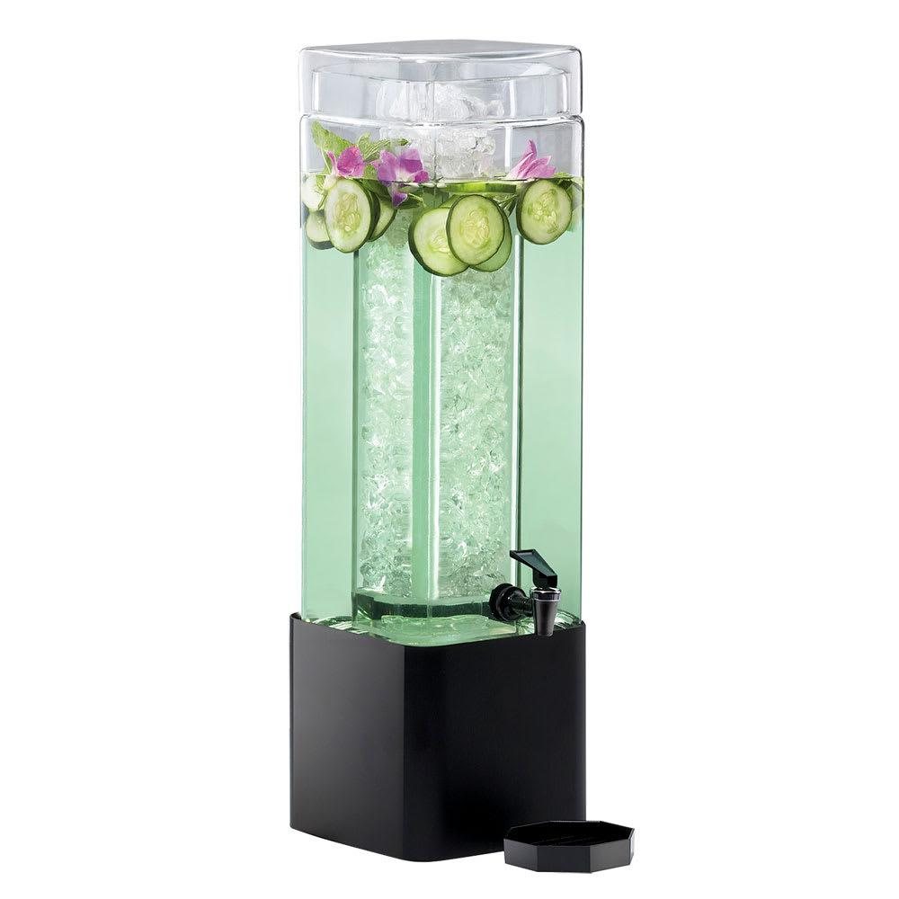 Cal-Mil 1112-1A-13 1.5 gal Beverage Dispenser w/ Ice Chamber - Plastic w/ Black Metal Base