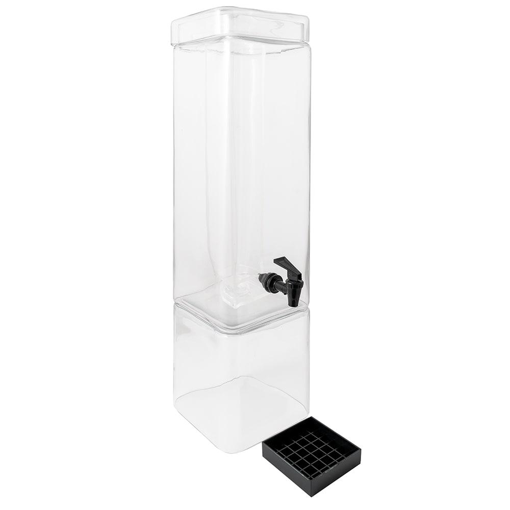 "Cal-Mil 1112-3 3-Gallon Square Glass Beverage Dispenser, 10 x 7 x 26.5"" High"