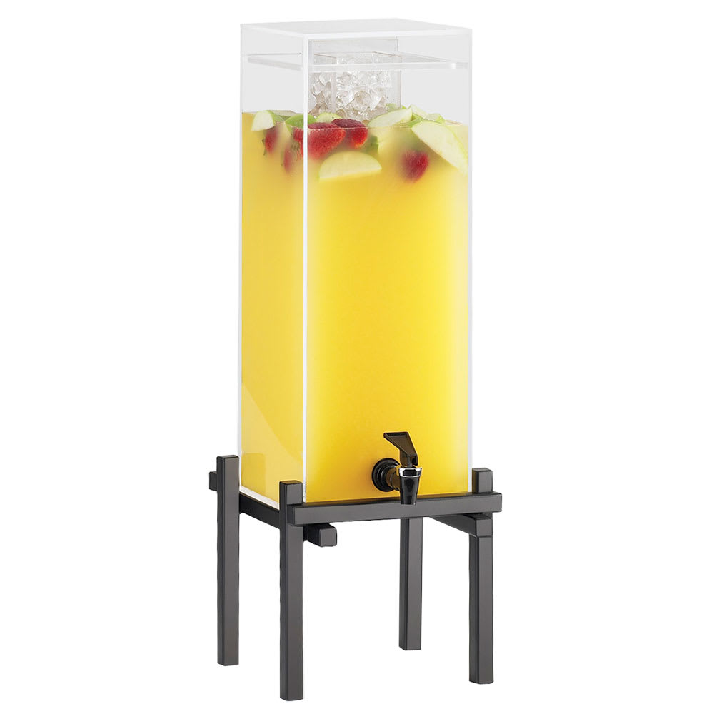 Cal-Mil 1132-1-13 1.5 gal Beverage Dispenser - Drip Tray, Acrylic, Black