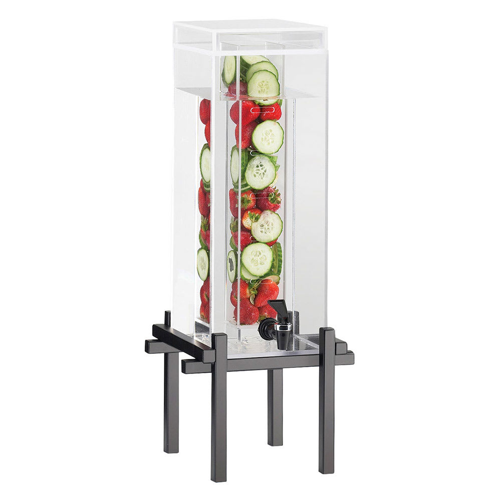 Cal-Mil 1132-1INF-13 1.5-gal Beverage Dispenser - Infusion, Drip Tray, Acrylic, Black