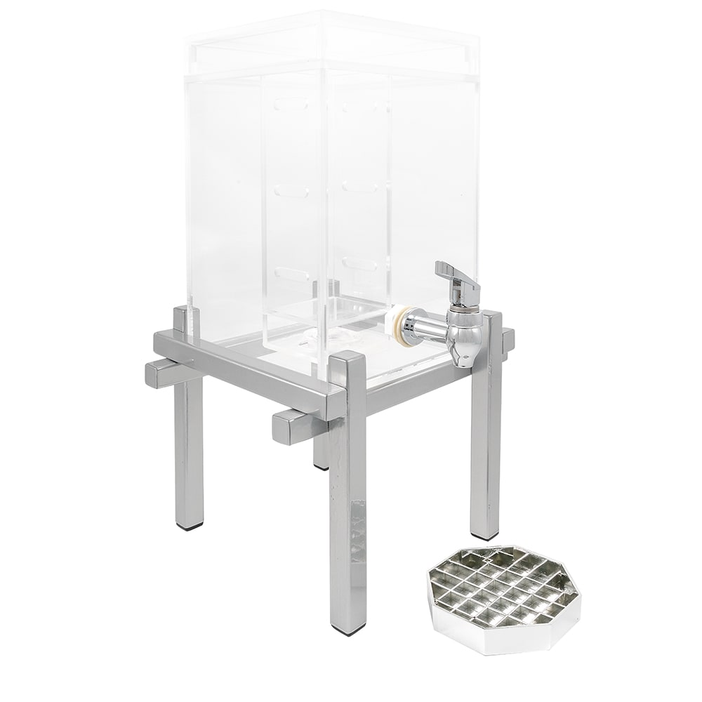 Cal-Mil 1132-1INF-74 1.5 gal Beverage Dispenser - Drip Tray, Acrylic, Silver