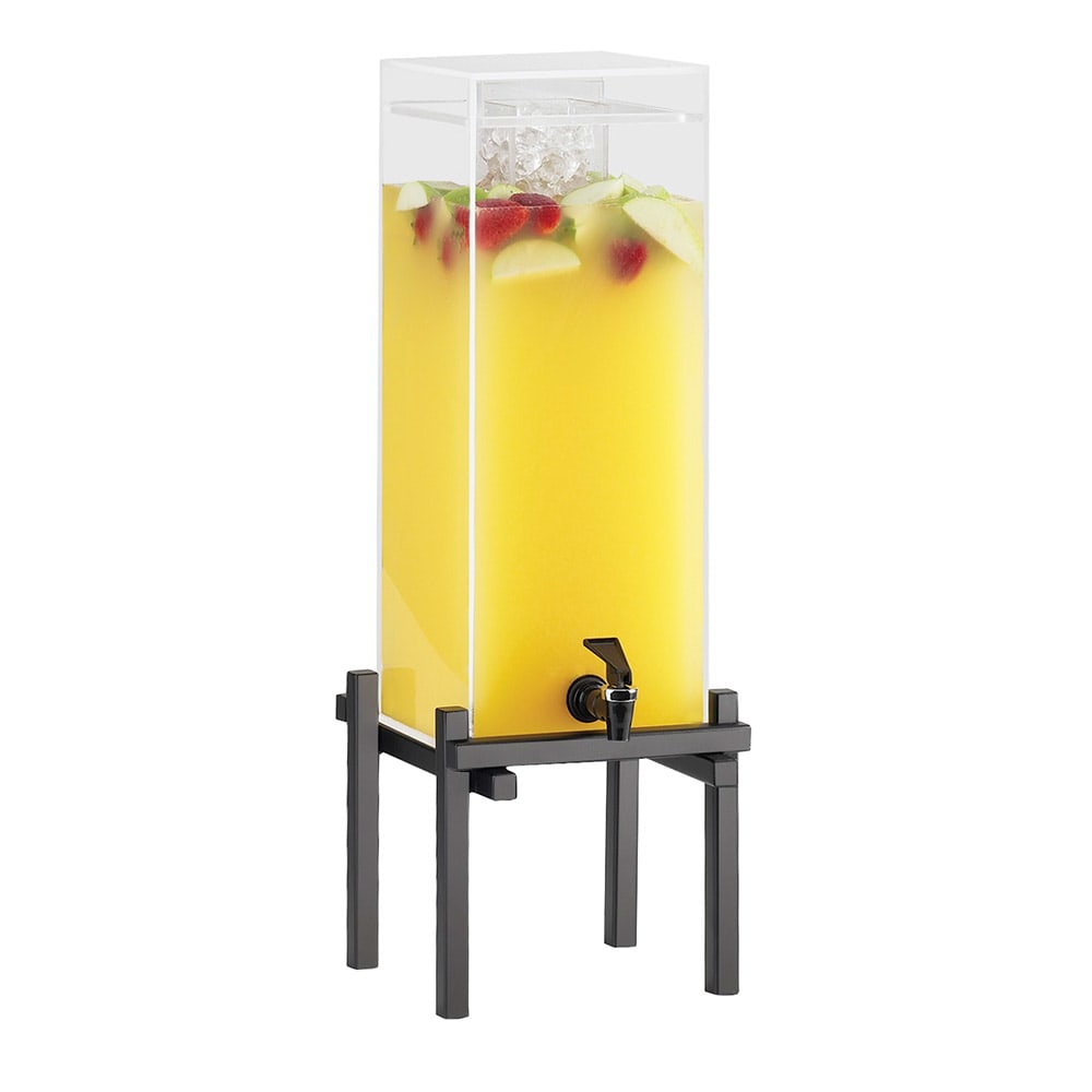 "Cal-Mil 1132-3-13 3-gal Beverage Dispenser - Drip Tray, 10-1/4x10-1/2x25-1/2"", Black"