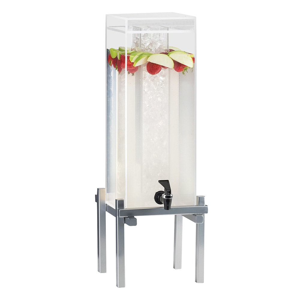Cal-Mil 1132-3-74 3 gal Beverage Dispenser - Drip Tray, Acrylic, Silver