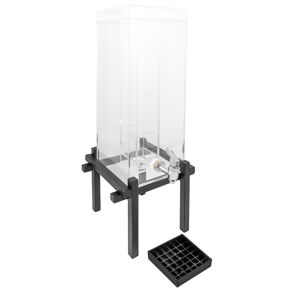 Cal-Mil 1132-3INF-13 3 gal Beverage Dispenser - Drip Tray, Acrylic, Black