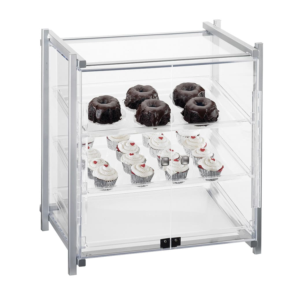 "Cal-Mil 1143-S-74 Display Case - Self-Sevice, See-Thru, 20-1/2x17x22"", Silver"