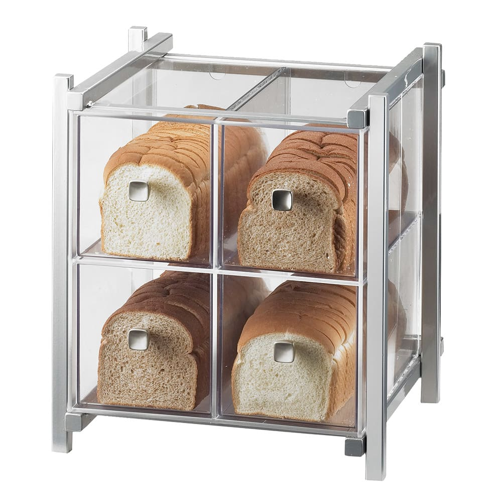 Cal-Mil 1146-74 4 Drawer Bread Case - Silver